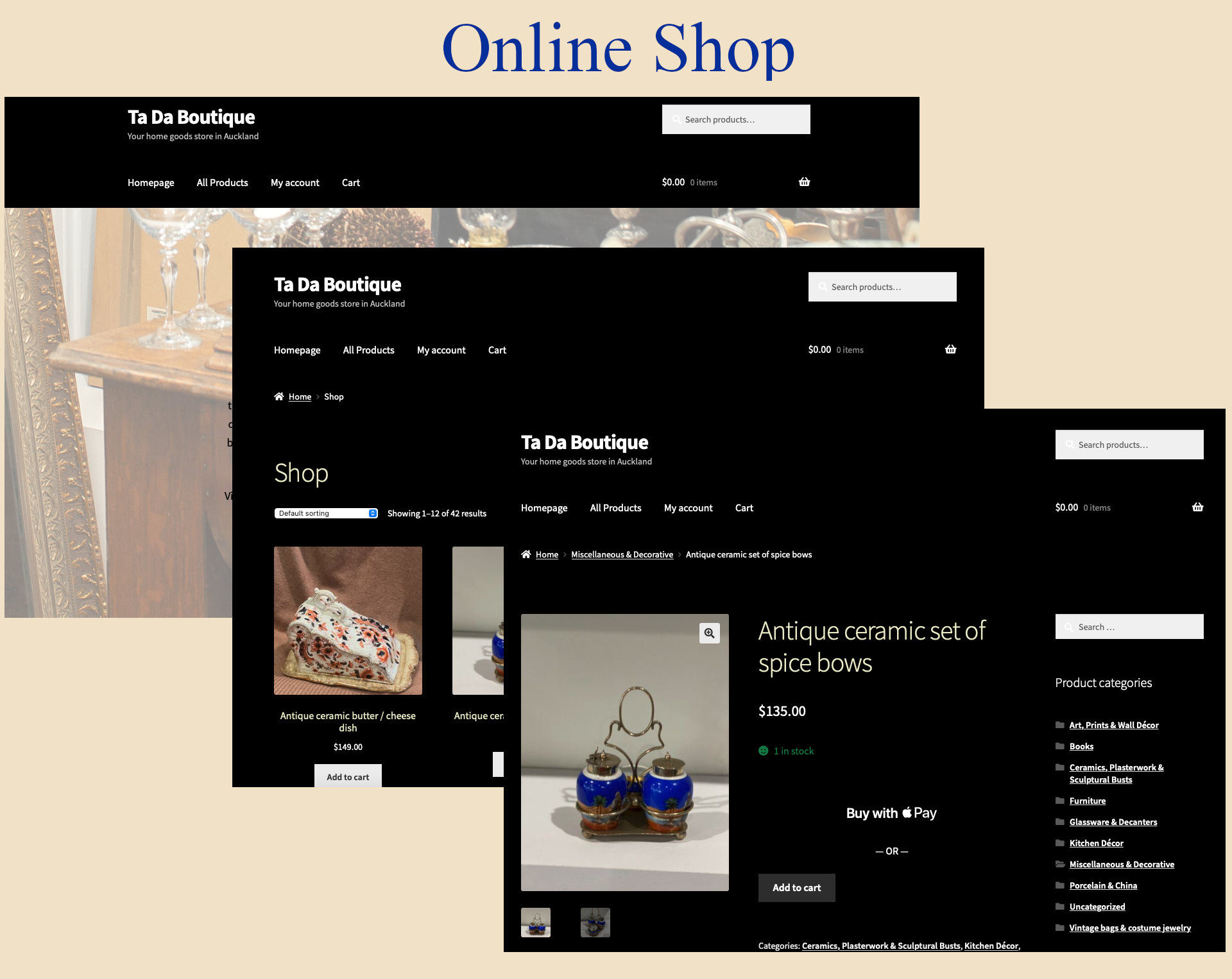 Online Shop with Facebook Store